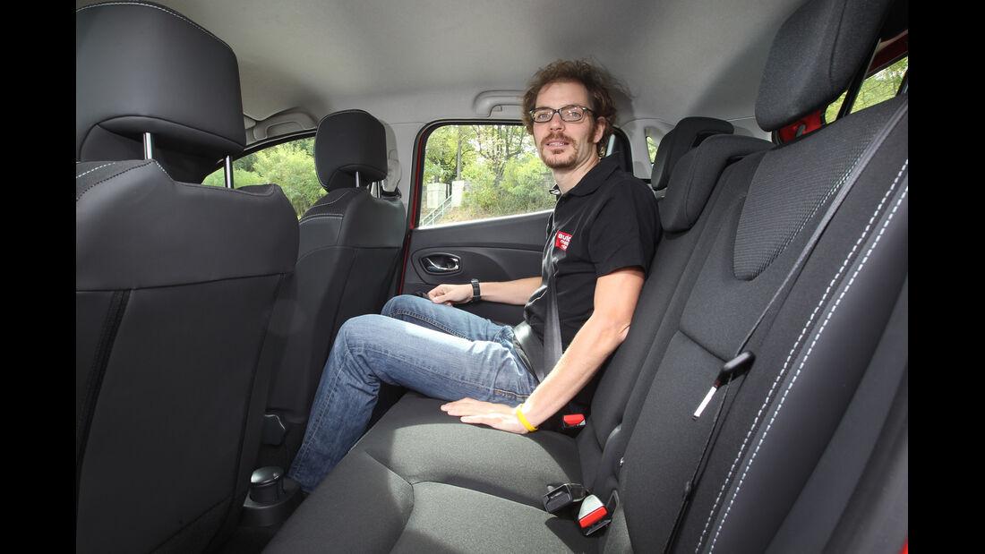 Renault Clio, Rücksitz, Beinfreiheit