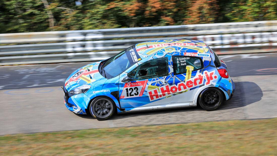 Renault Clio - Startnummer #123 - Klasse: SP3 - 24h-Rennen - Nürburgring - Nordschleife - 24. bis 27. September 2020