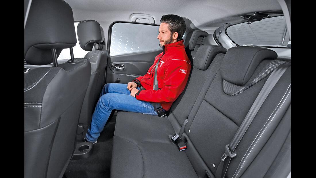 Renault Clio TCe 90 Energy, Fondsitz, Beinfreiheit