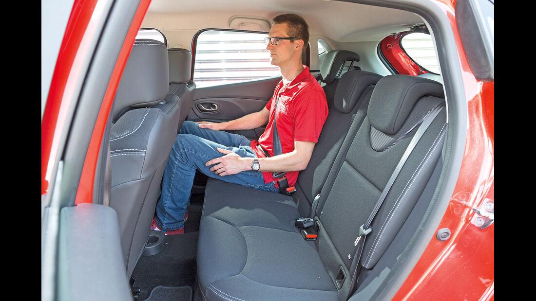 Renault Clio TCe 90, Fondsitz, Beinfreiheit