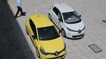 Renault Clio TCe 90, Renault Zoe, Draufsicht
