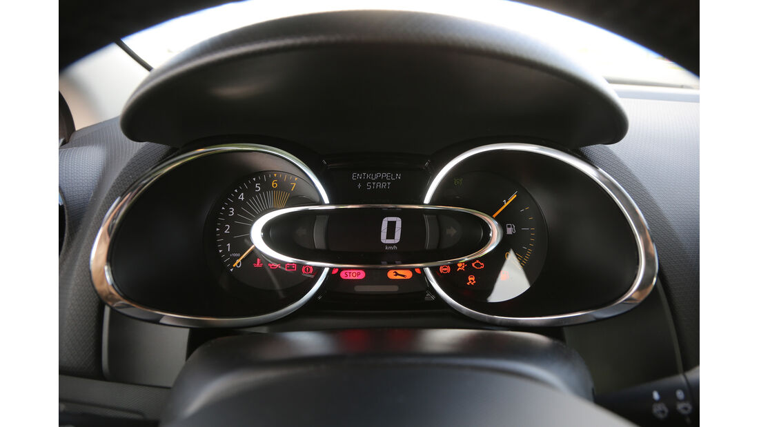 Renault Clio TCe 90, Rundinstrumente