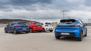 Renault Clio Tce 130, Ford Fiesta 1.0 EB, Peugeot 208 PT 130, Kia Rio 1.0 T-GDI, Exterieur