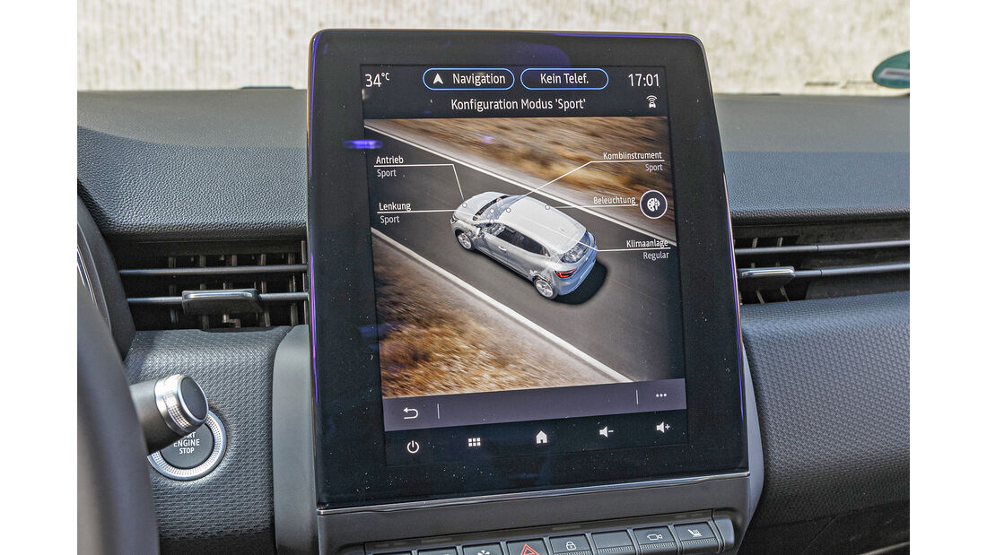 Renault Clio, Touchscreen
