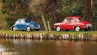 Renault Dauphine, Baujahr 1959; VW 1200 Export, Baujahr 1960