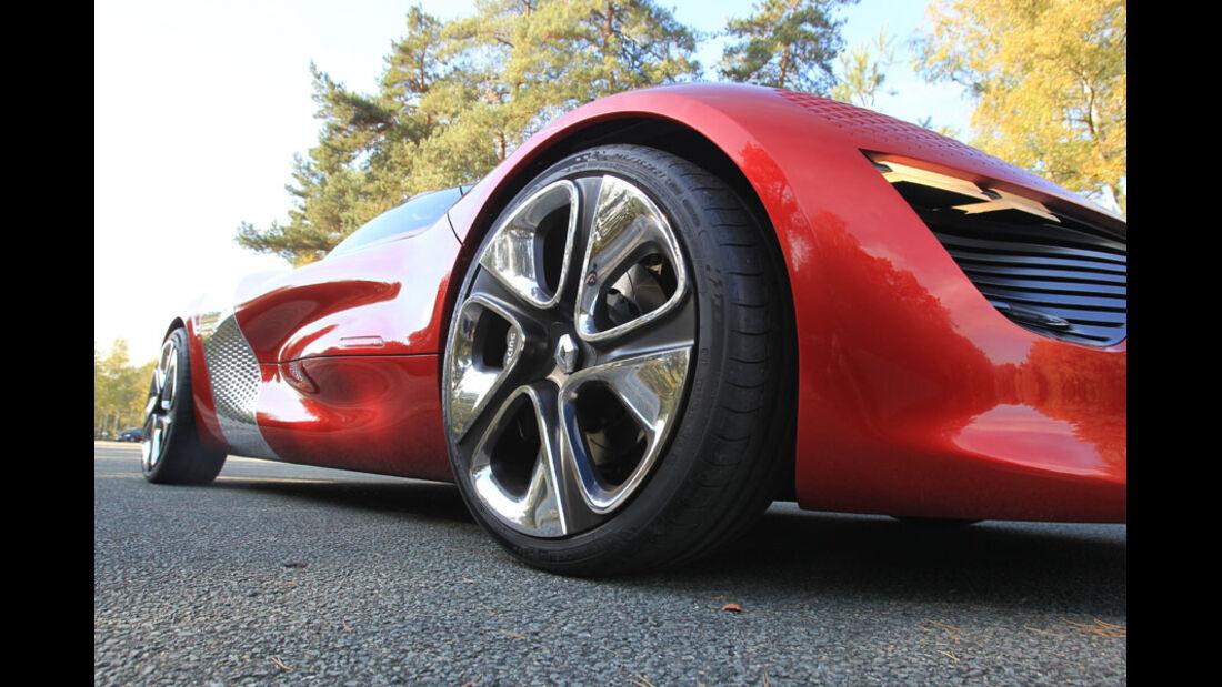 Renault Dezir, Reifen, Felgen