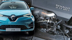 Renault Diesel Ende Zoe Diesel Motor Collage