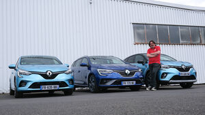 Renault E-Tech Hybride, Renautl Clio, Capture, Megane, Fahrbericht
