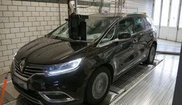 Renault Espace Abgastest Prüfstand