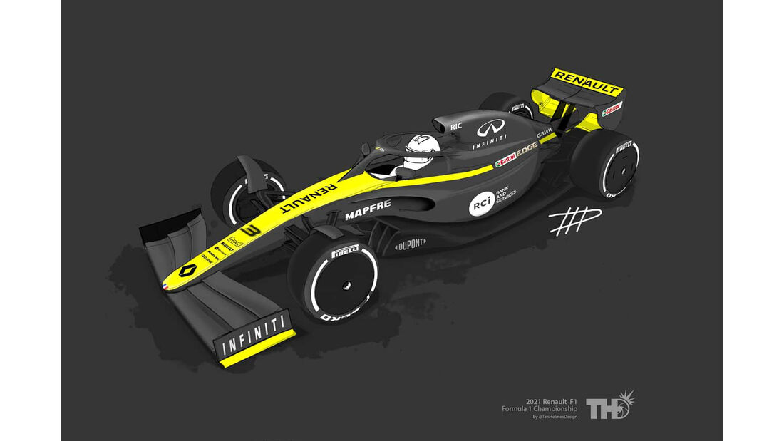 Renault - F1-Concept 2021 - Livery by Tim Holmes