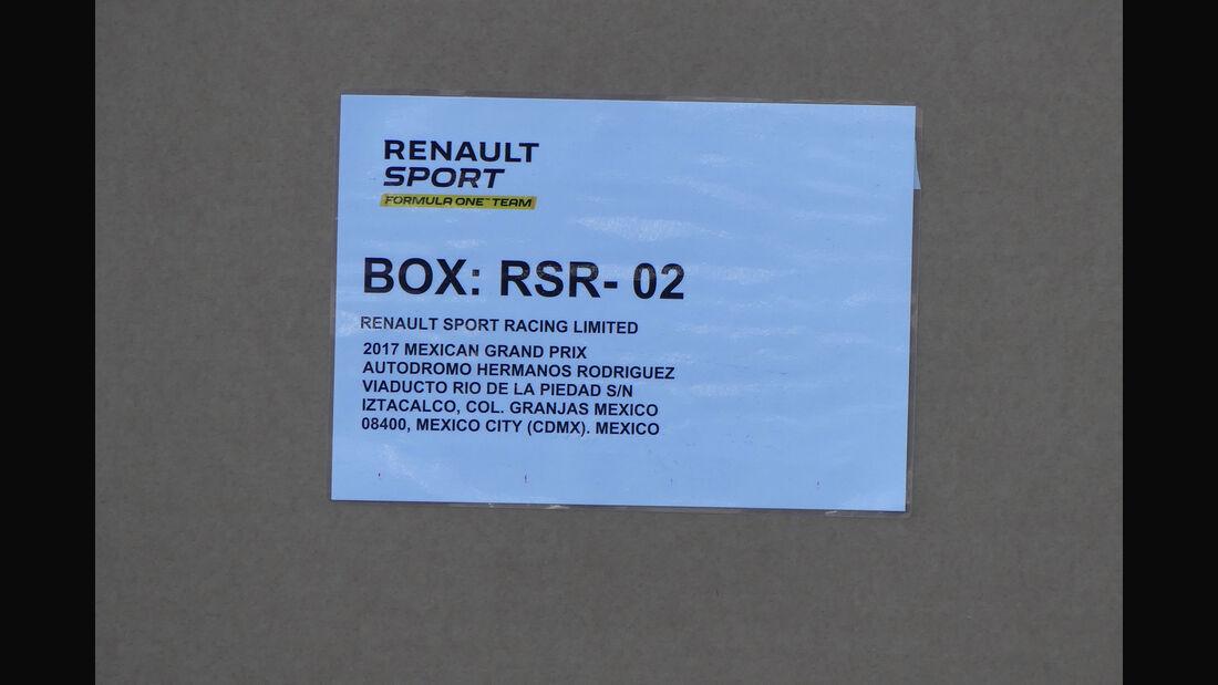 Renault - GP Mexiko - Formel 1 - Donnerstag - 26.10.2017