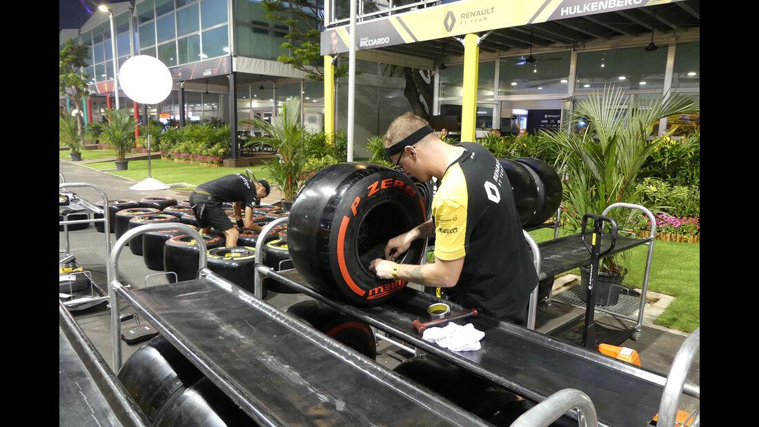 Renault - GP Singapur - Formel 1 - Mittwoch - 18.09.2019
