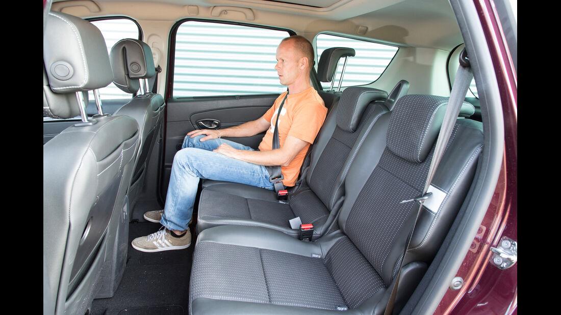 Renault Gr. Scénic 1.5 dCi Dynam., Rücksitz, Beinfreiheit