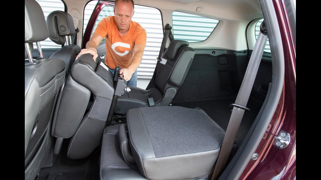 Renault Gr. Scénic 1.5 dCi Dynam., Rücksitz, umklappen
