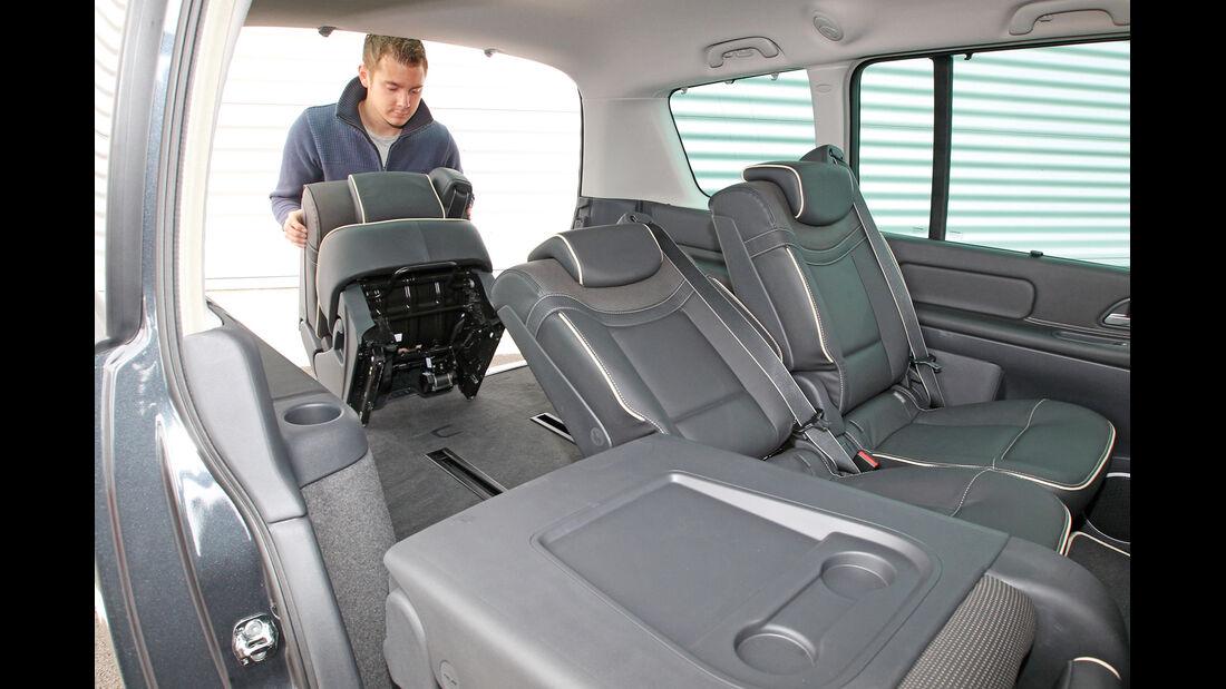 Renault Grand Espace dCi 175 FAP Initiale, Rücksitz, ausbauen, Ladefläche