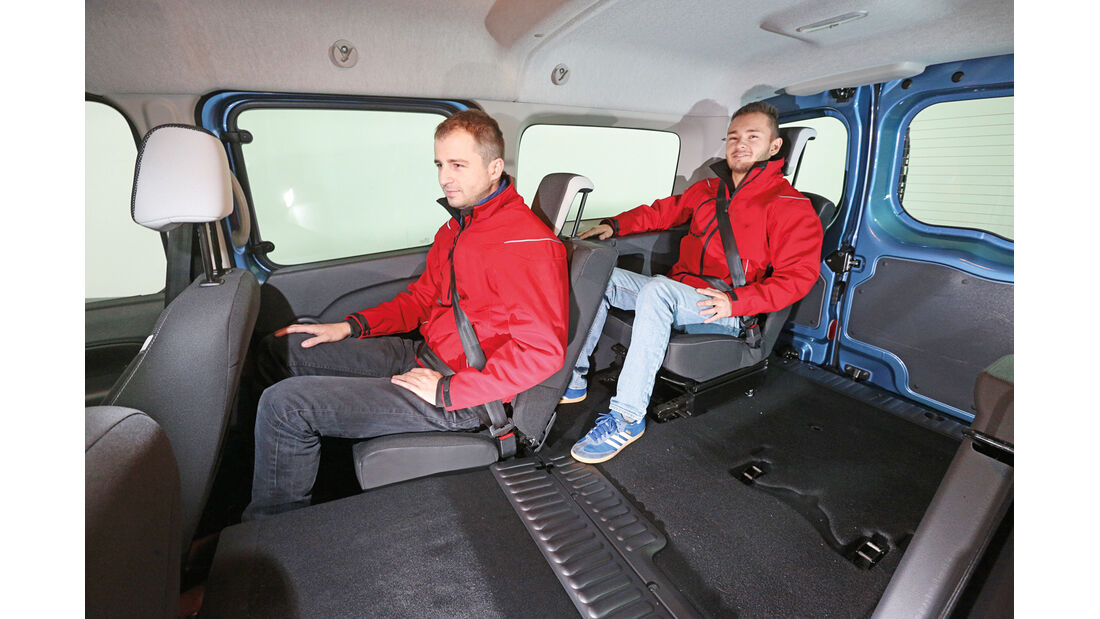 Renault Grand Kangoo, Dritte Reihe, Beinfreiheit