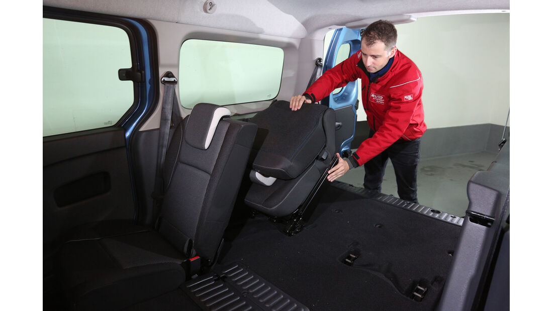 Renault Grand Kangoo, Sitze, Umklappen
