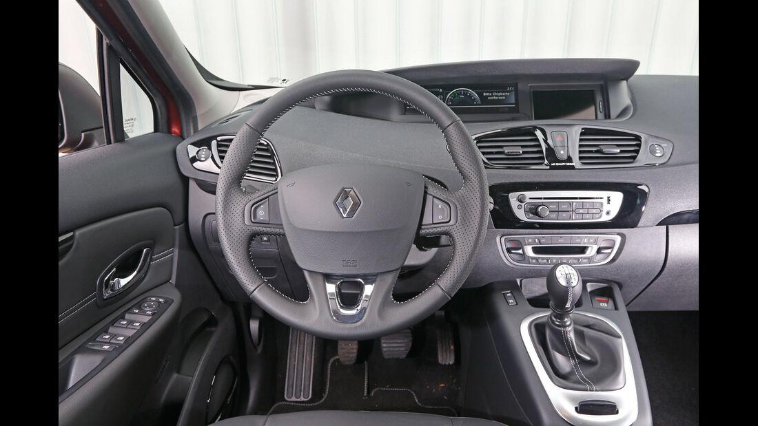 Renault Grand Scénic dCi 130, Cockpit, Lenkrad