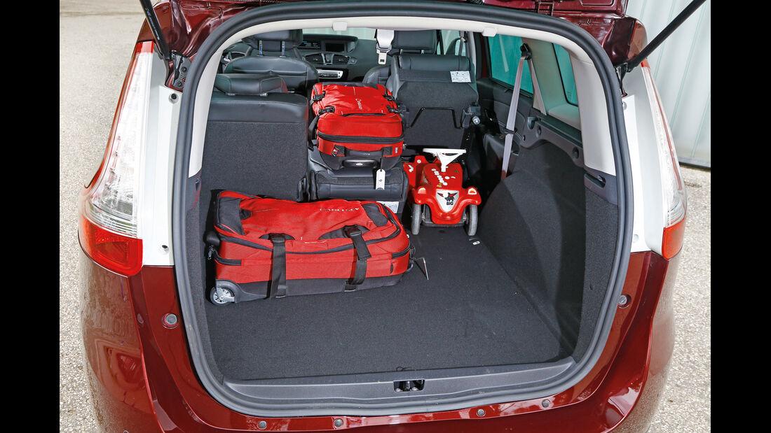 Renault Grand Scénic dCi 130, Kofferraum, Ladefläche