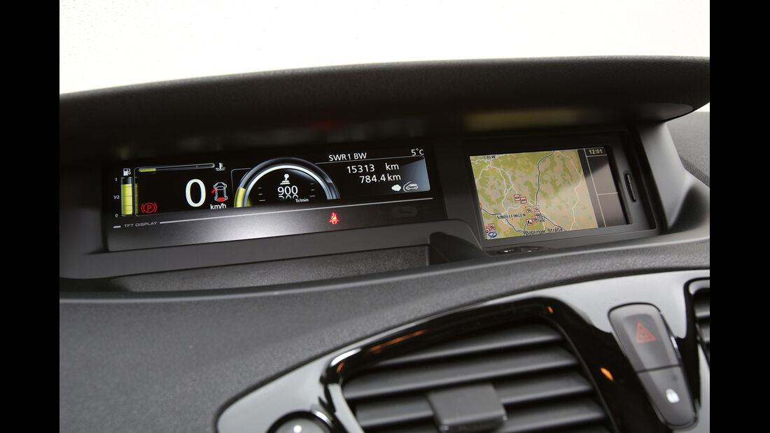 Renault Grand Scénic dCi 150 FAB, Anzeigeinstrumente