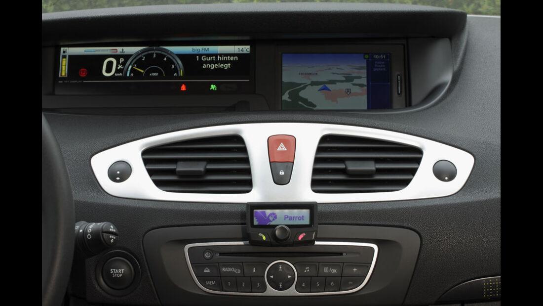Renault Grand Scenic, Mittelkonsole, Bildschirm