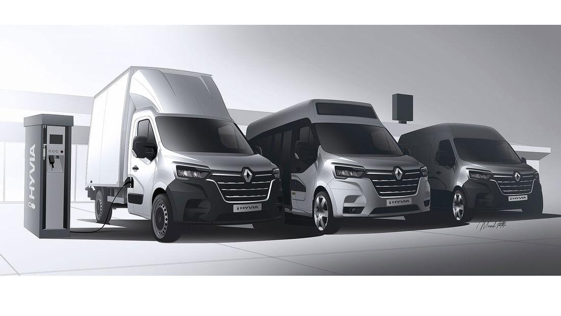 Renault Hyvia Brennstoffzellen Nutzfahrzeuge