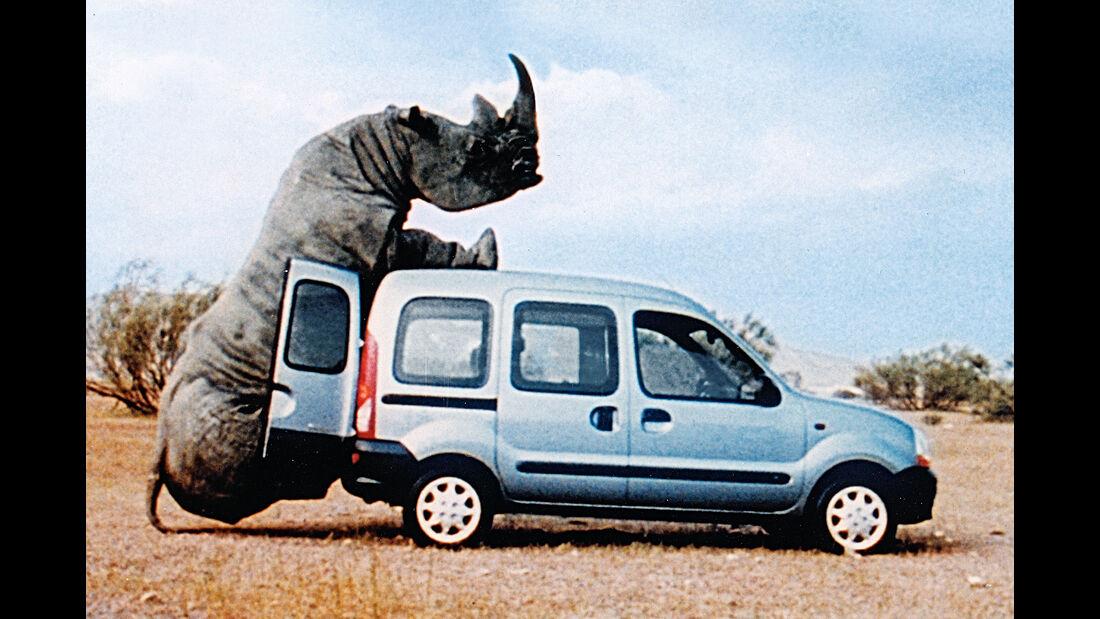 Renault Kangoo Rhinozerus Werbung