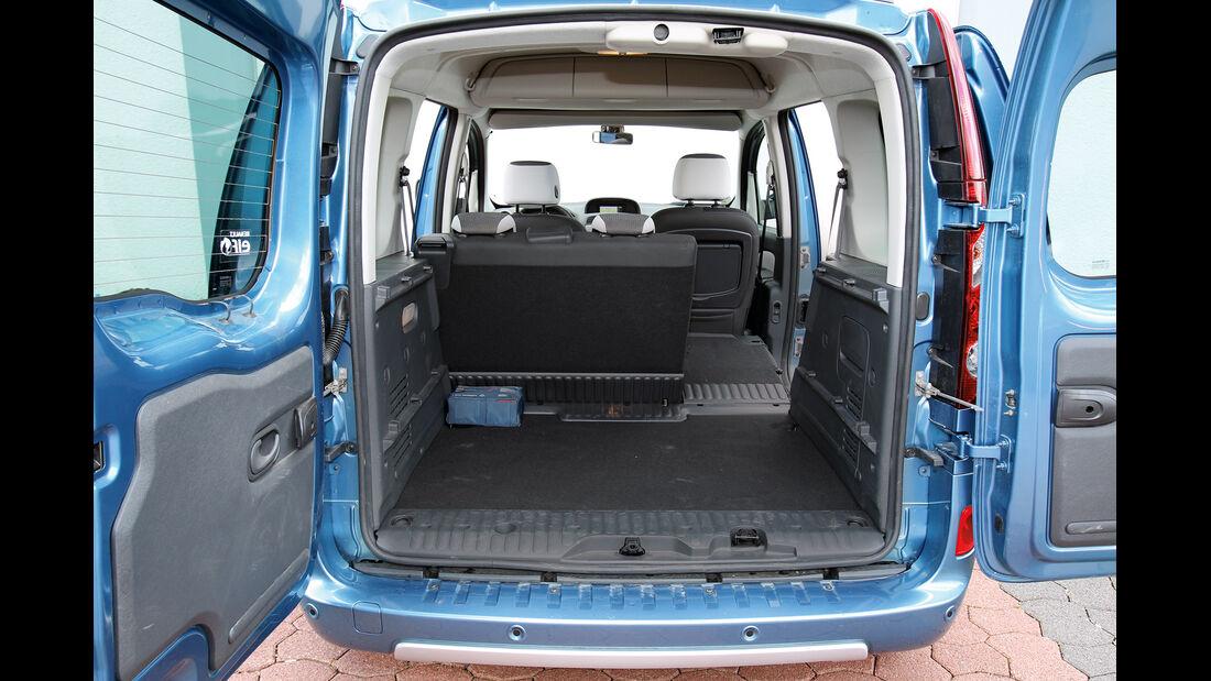 Renault Kangoo dCi 90 energy, Ladefläche, Kofferraum
