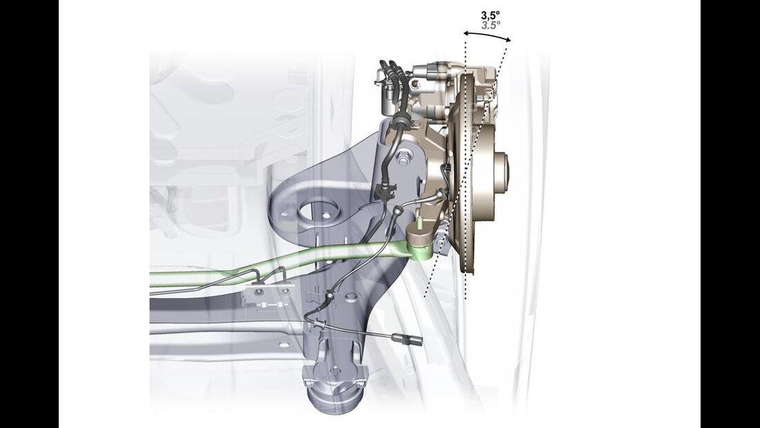 Renault Laguna Zeichnung Hinterradlenkung