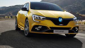 Renault Mégane Alpine R.S. Marke Retusche Logo