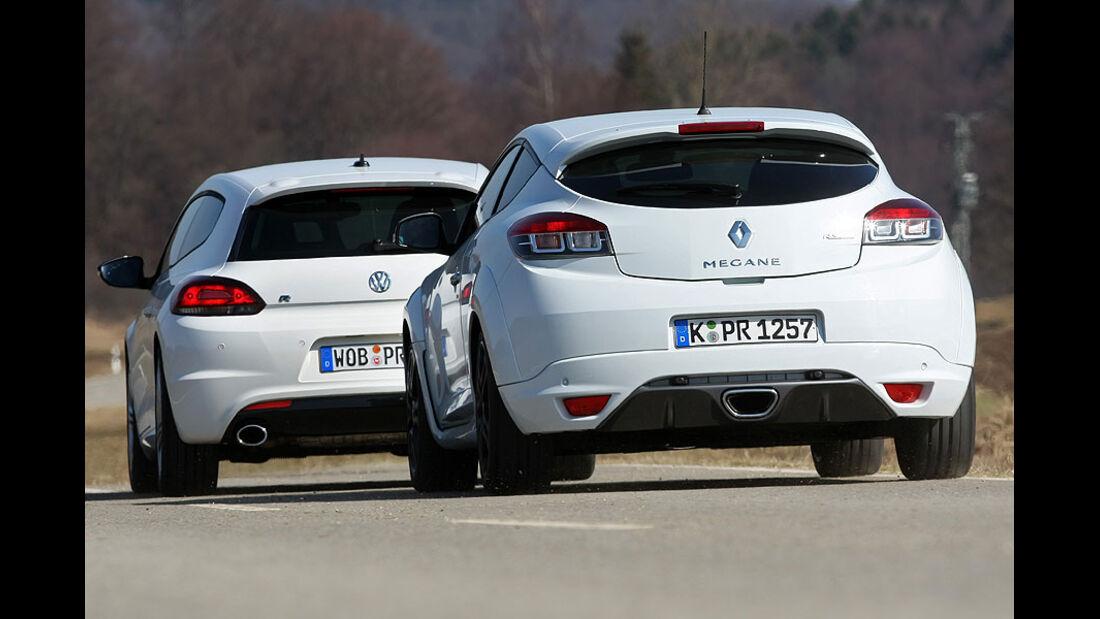 Renault Mégane Coupé TCE 250, VW Scirocco R