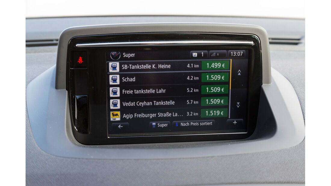 Renault Mégane Energy TCe 130, Infotainment, Bildschirm