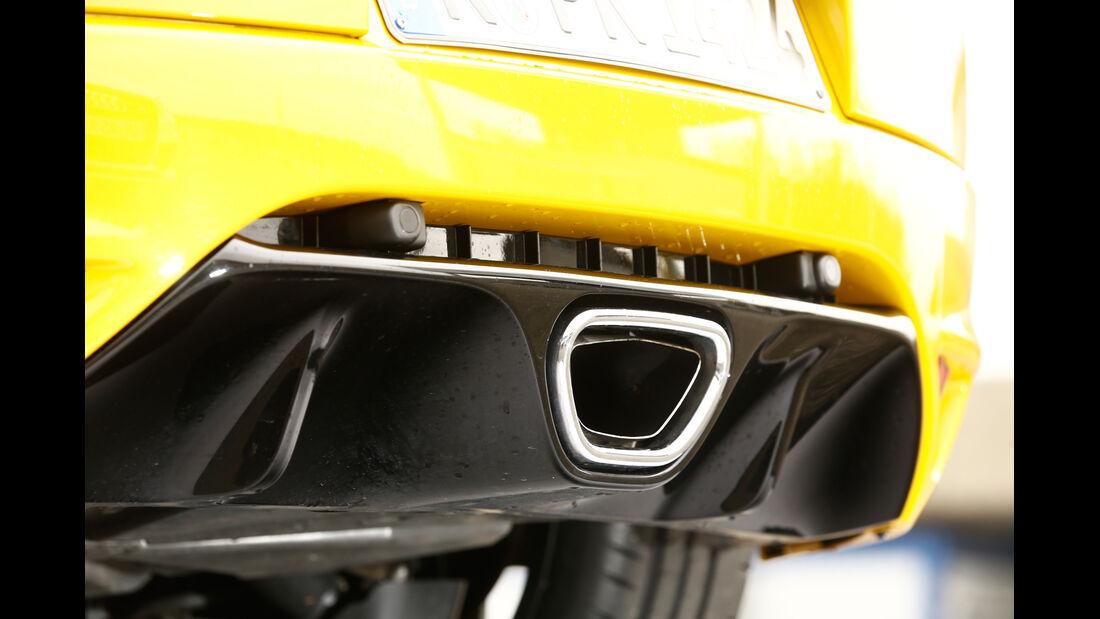 Renault Mégane R.S., Auspuff, Endrohr