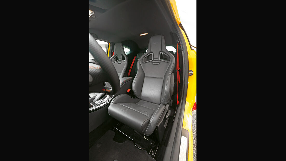 Renault Mégane R.S., Fahrersitz
