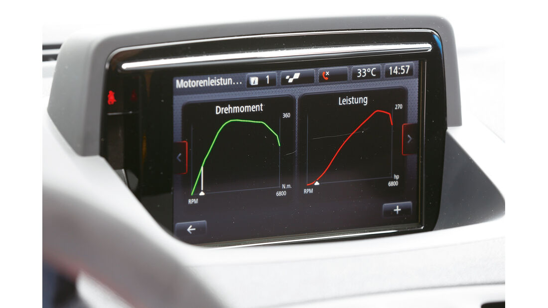 Renault Mégane R.S. Trophy TCe 275, Display, Infotainment