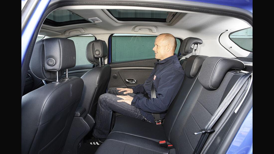 Renault Mégane, Rücksitze