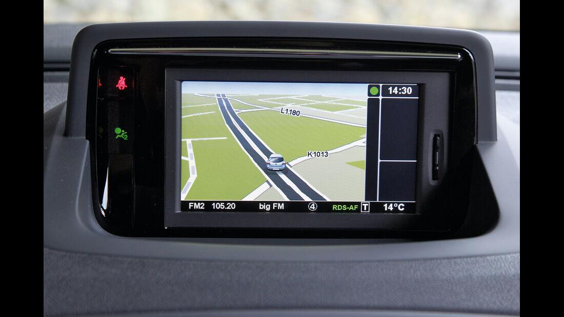 Renault Mégane TCe 130, Navi, Bildschirm