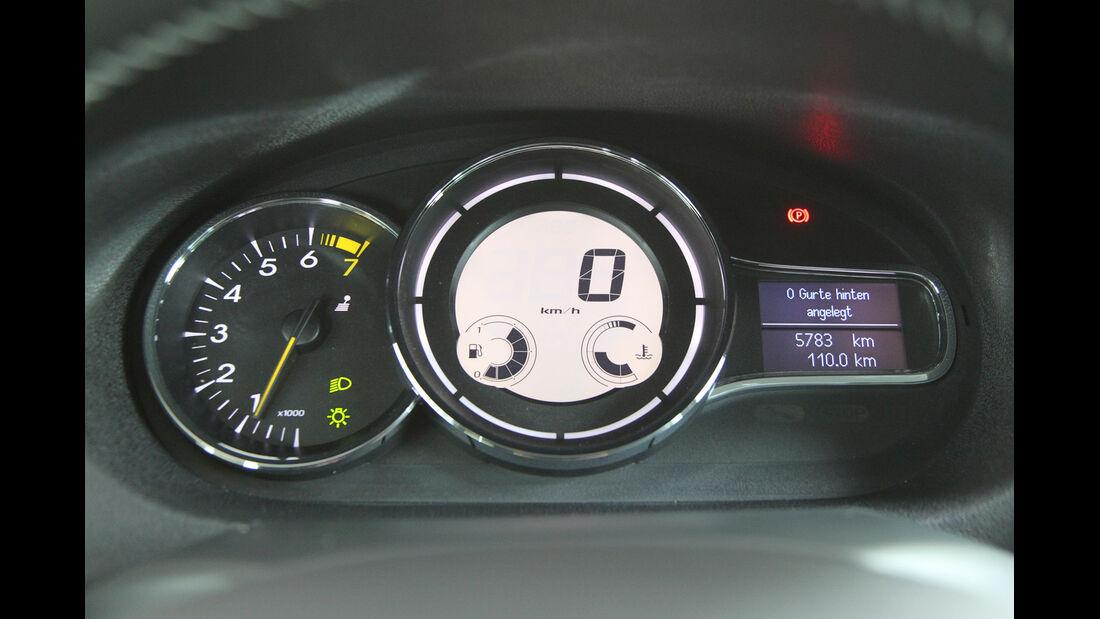Renault Mégane TCe 130, Rundinstrumente, Tacho