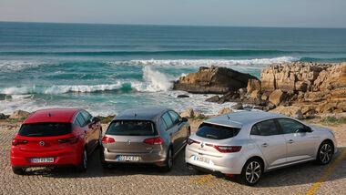 Renault Mégane dCi 130, Opel Astra 1.6 CDTI, VW Golf 1.6 TDI