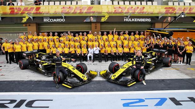 Renault - Mannaschaftsfoto - GP Abu Dhabi 2019