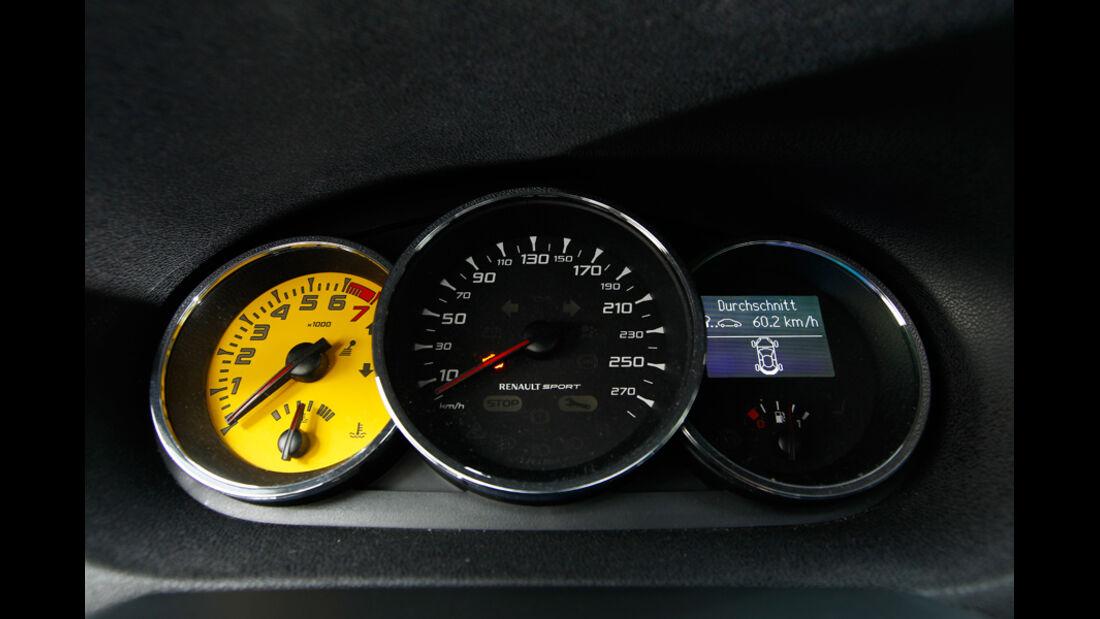 Renault Megane R.S., R.S.-Cockpit, Drehzahlmesser, Analog-Tachometer