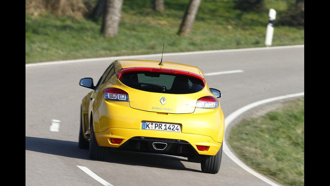 Renault Megane RS, Heckansicht, Vergleichstest, spa 05/2014