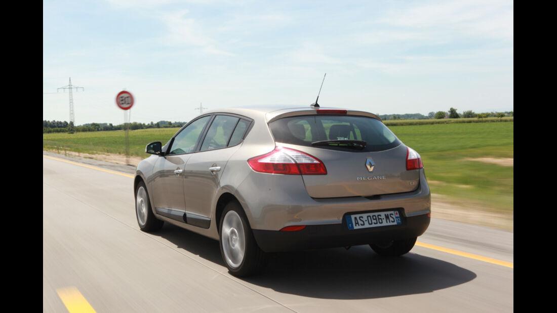 Renault Megane TCE 130, Heck, Rückansicht