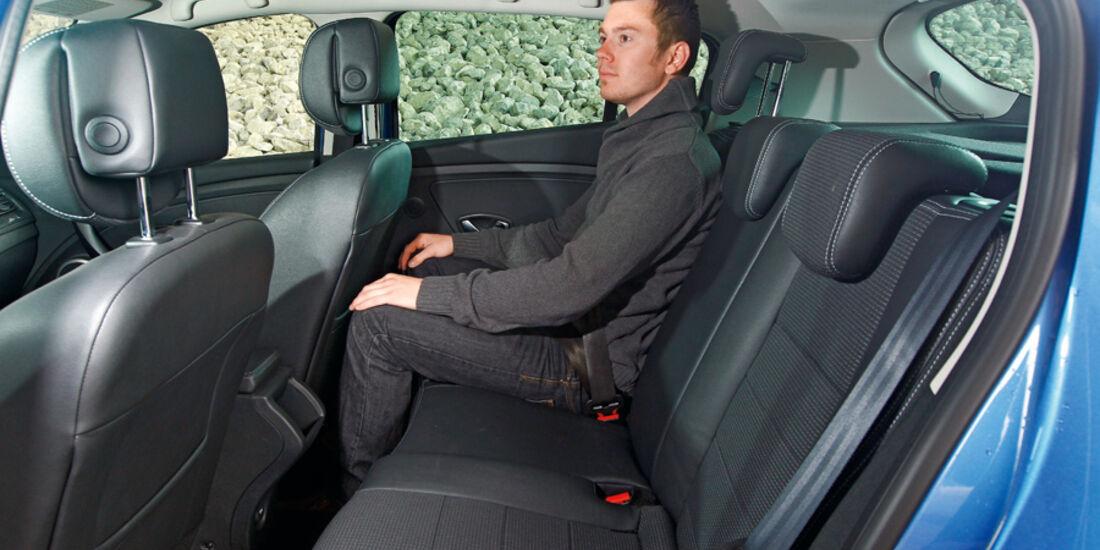 Renault Megane TCe 130, Rückbank, Rücksitze