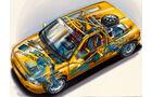 Renault Ökostudien, Renault Clio Rallye, technische Zeichnung
