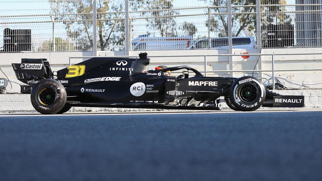 Renault - Profil - F1-Test - Barcelona - 2020