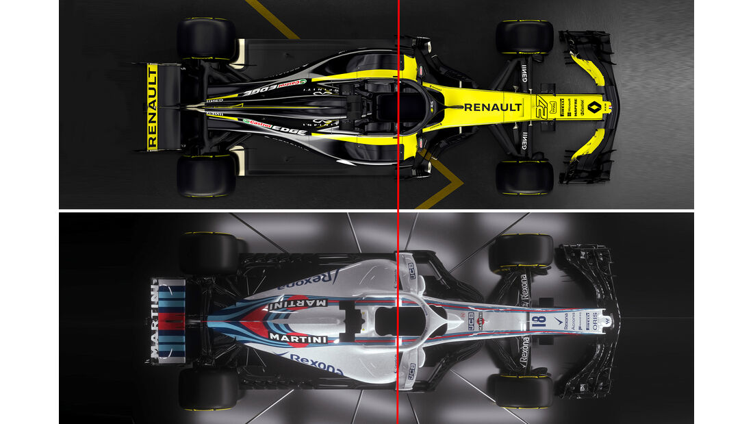 Renault RS18 vs. Williams FW41 - F1 2018