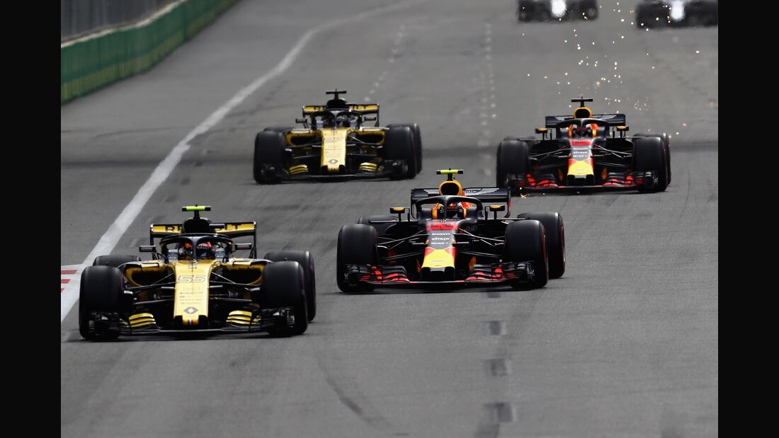 Renault - Red Bull - Formel 1 - GP Aserbaidschan - 29. April 2018