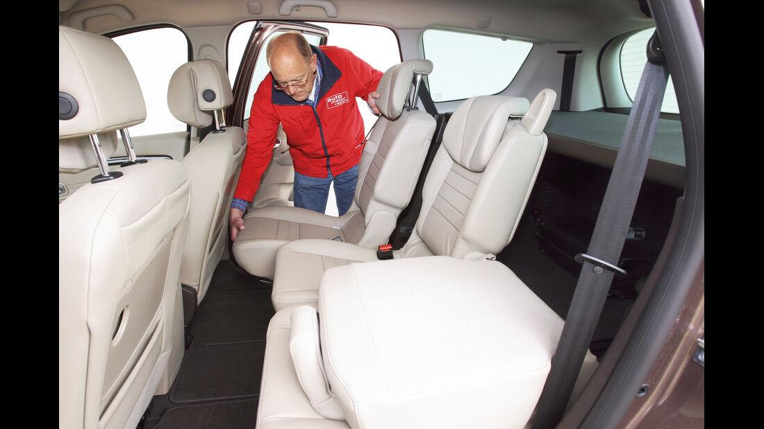 Renault Scénic, Rücksitz, Umklappen