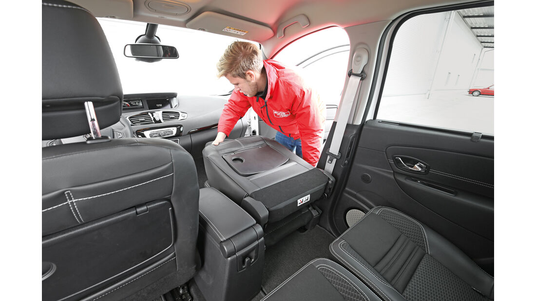 Renault Scénic, Sitze, Umklappen